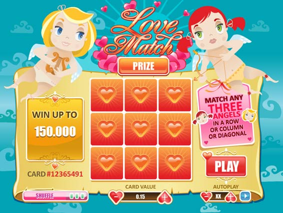 Play Love Match Scratch Online at Casino.com South Africa