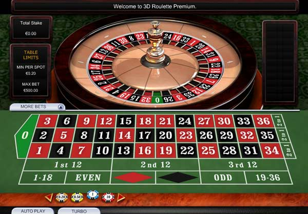 Play 3D Roulette Premium at Casino.com UK