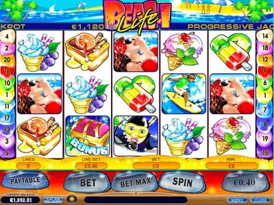 beach life video slot game