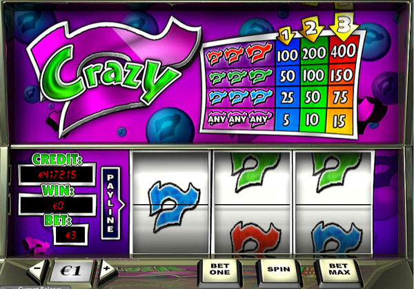 Play Crazy 7 Slots Online at Casino.com India