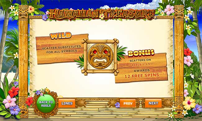 Play Hawaiian Treasure Slots at Casino.com South Africa