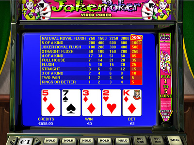 online real casino poker joker
