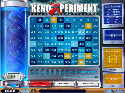 Play the Keno Xperiment Arcade Game at Casino.com UK