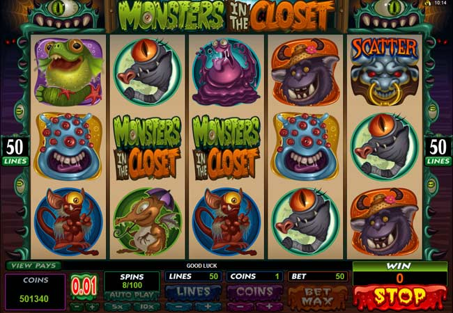 new microgaming scary slot game
