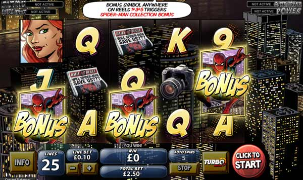 Spider Man Slot Machine - Play this Game for Free Online